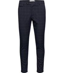 como check suit pants kostuumbroek formele broek blauw les deux