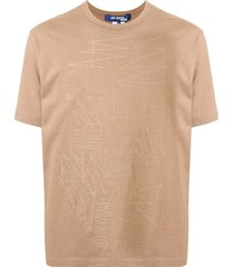 junya watanabe man abstract stitched t-shirt - neutrals