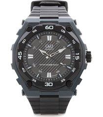 reloj para caballero deportivo q&q gw79j003y  negro