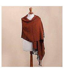 100% alpaca shawl, 'splendid geometry' (peru)