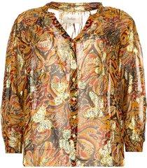 blouse met bloemenprint quincy  camel