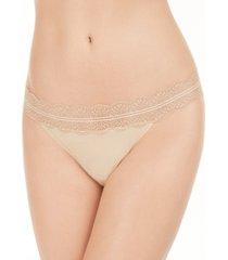calvin klein women's lace trim thong underwear qd3779