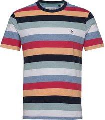 multi colour stripe ringer t-shirt t-shirts short-sleeved multi/mönstrad original penguin