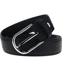 cinturón de hombres, cinturón de cuero de los-negro