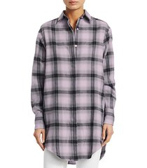 flannel check graphic shirt