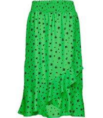 kafanny skirt knälång kjol grön kaffe