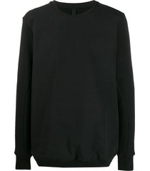 army of me stitched panel sweater - black