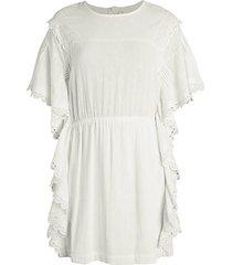 serenity lace-trim ruffle cotton dress