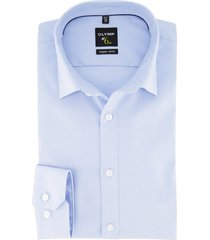overhemd olymp no. 6 super slim fit blauw geruit