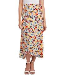 bcbgeneration woven sarong midi skirt