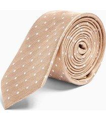 mens gold herringbone polka dot tie