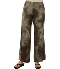 24seven comfort apparel women comfortable green palazzo pants