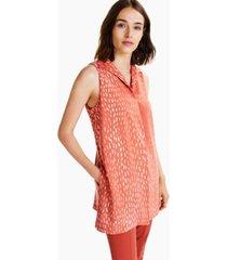 alfani printed sleeveless wide-collar top, created for macy's