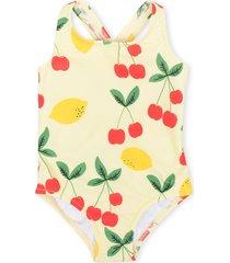 mini rodini cherries and lemons-print swimsuit - yellow