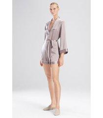 key essentials romper, women's, black, 100% silk, size m, josie natori