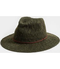 adriene braided band panama hat in olive - olive