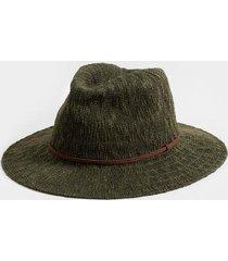 adriene braided band panama hat in olive - olive