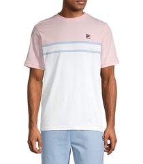 fila men's colorblock stretch-cotton tee - pink - size s