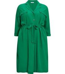 rak midiklänning med lång ärm