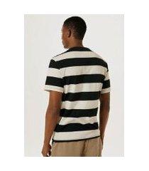 camiseta unissex listrada color block