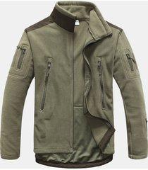 giacca sportiva invernale da uomo colore invernale plus szie thermal polar fleece traspirante patchwork traspirante
