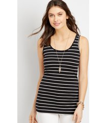 maurices womens stripe scoop neck layering tank