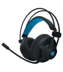headset gamer fortrek pro h2 p2/usb led azul 32 ohms preto