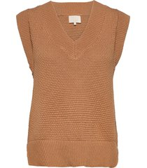vibe knit vest vests knitted vests beige minus