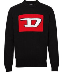 k-logox-b pullover gebreide trui met ronde kraag zwart diesel men