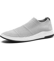sneaker traspirante traspirante in tessuto lavorato a maglia da uomo