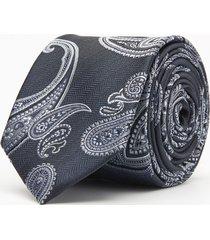 krawat paisley grafit 102