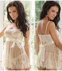 vestido de encaje tanga-blanco