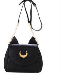 summer limited sailor moon chain shoulder bag lady luna cat pu leather handbag w