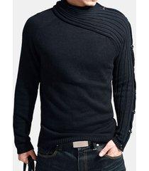 maglione casual da uomo dal design elegante sottile a manica lunga pulsanti