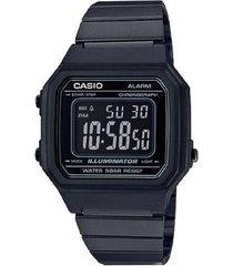 reloj casio retro b-650wb-1b digital negro unisex