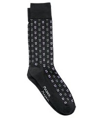 travel tech foliate mid-calf socks, 1-pair