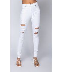 akira follow my lead destroyed high rise skinny jeans