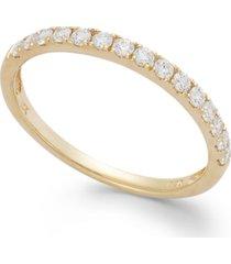 arabella 14k white or yellow gold ring, swarovski zirconia wedding band (1 ct. t.w.)