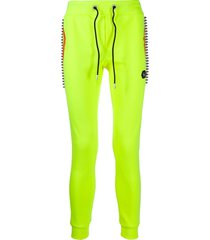 philipp plein slim-fit studded track trousers - yellow