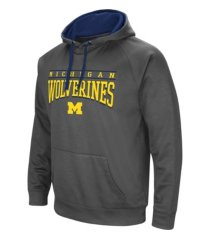 colosseum michigan wolverines men's poly performance hooded sweatshirt