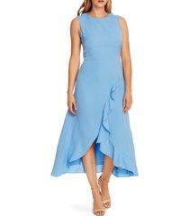 women's vince camuto ruffle sleeveless rumple twill dress