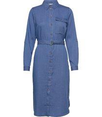 vioakes bista l/s midi shirt dress/su dresses everyday dresses blå vila