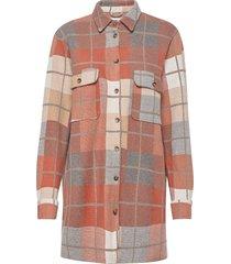 joleneln workwear oz shirt wollen jas lange jas rood lounge nine