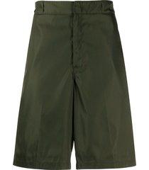 prada loose bermuda shorts - green