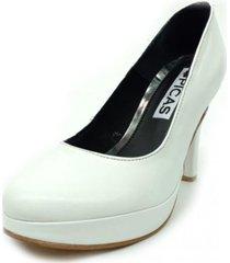 zapato blanco picas shoes stiletto