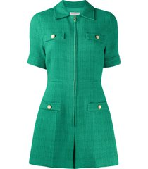 sandro paris jacky short sleeve playsuit - green