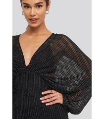 na-kd party dolman glittery mini dress - black