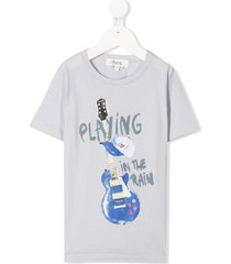 bonpoint playing in the rain t-shirt - grey