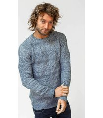 sweater amsterdenim - pullover jozias - blue melange