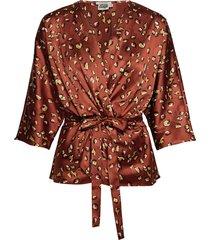 georgina blouse mini blouse lange mouwen rood twist & tango